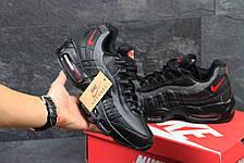 Высокие кроссовки Nike air max 95, черные с серым 44р, фото 2