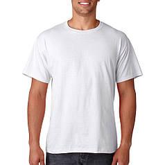 Мужская футболка белая Хлопок.