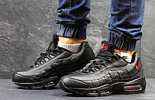Высокие кроссовки Nike air max 95, черные с серым 44р, фото 3
