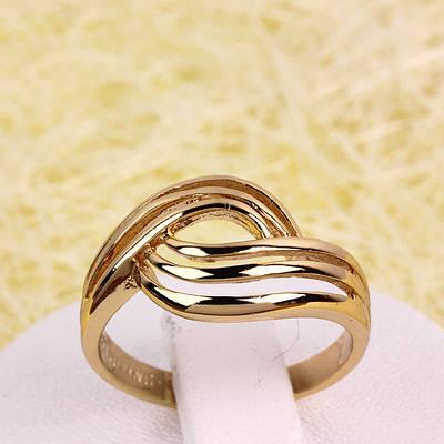 R1-2741 - Позолоченное кольцо, размер регулируется 17-17.5, 17.5-18, 18-18.5