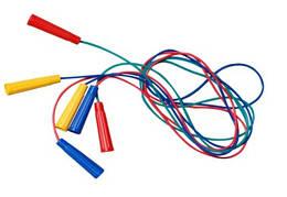 Скакалка цветная плотная, 2,2м, ЦЕНА ЗА УП., В УП. 10ШТ, ТМ BAMSIC, произ-во Украина