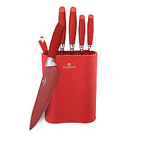 Набор ножей из высокоуглеродистой стали с полимерным покрытием 7 пр Blaumann BL-2074
