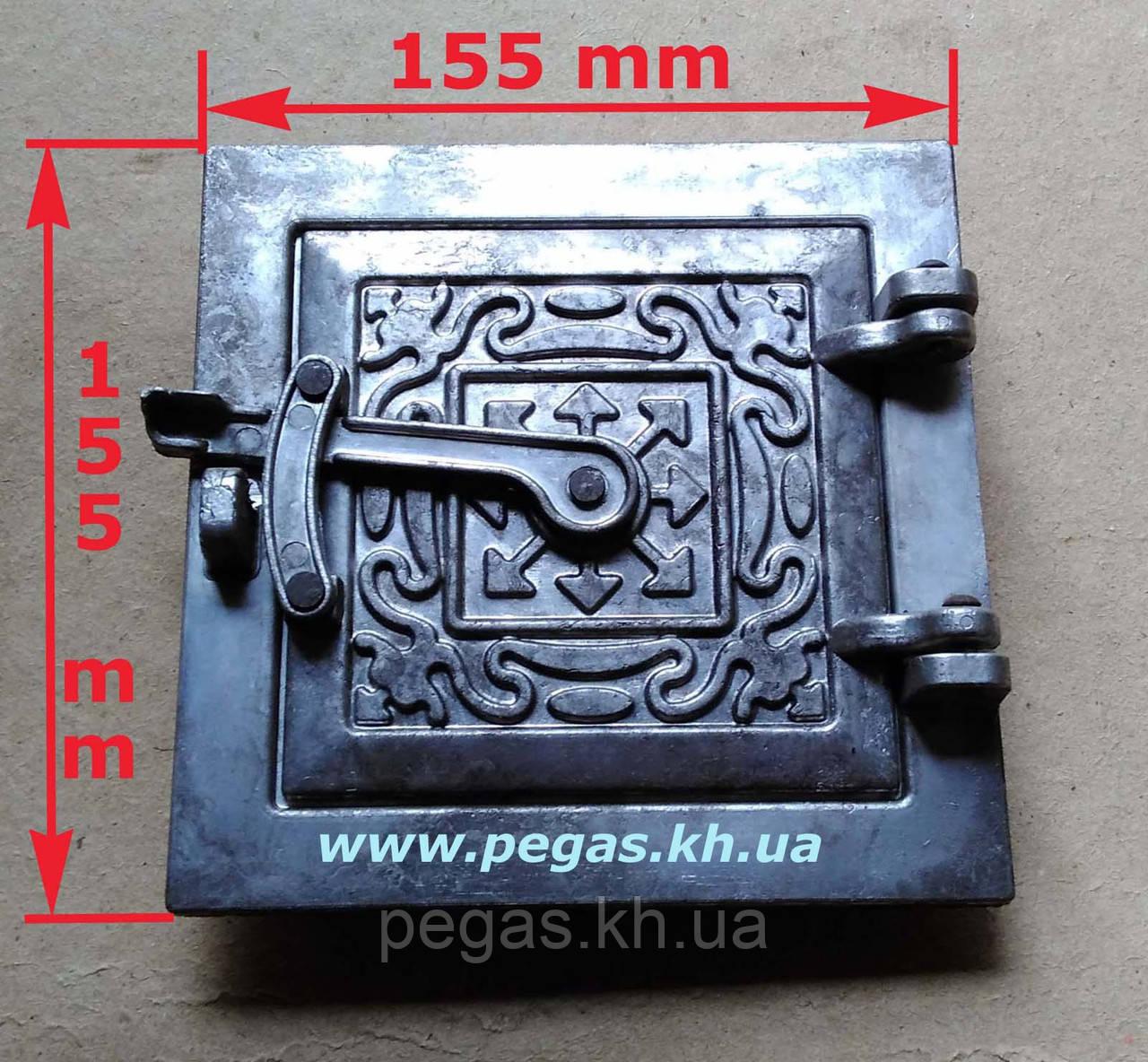 Дверка сажетруска (прочистная) (120х120 мм) печи, грубу, барбекю