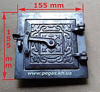 Дверка сажетруска (прочистная) (120х120 мм) печи, грубу, барбекю, фото 1
