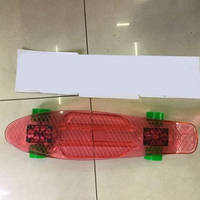 Скейт BT-YSB-0037 свет.прозр. пластик.+ алюм.PU колеса 56*14см 4цв.ш.к./8/