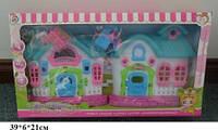 Кукольный дом 821 с куклами.мебелью батар.муз.свет кор.39*6*21 ш.к./60/