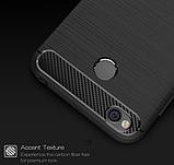 Чохол бампер Carbon Fiber TPU для Xiaomi Redmi 4X / 4X Pro / Тільки червоний /, фото 5