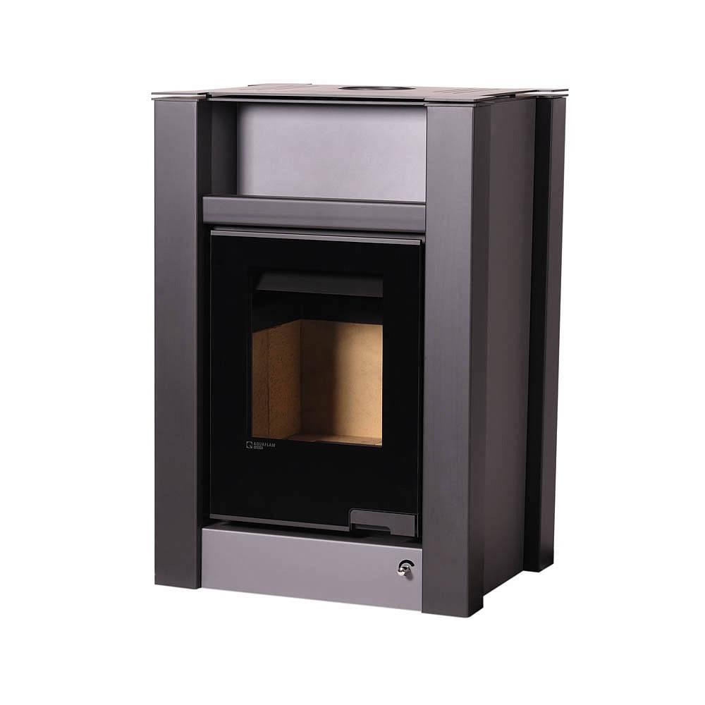 Отопительная печь-камин длительного горения AQUAFLAM VARIO LEND (серый)