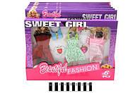 """Набор платьев для кукол с мульт. """"Sweet Girl"""" 6 шт. в кор. 33*25*2 см. /144/"""