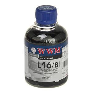 Чернила WWM для Lexmark 16/17 (L16/B) Black (200 грамм)