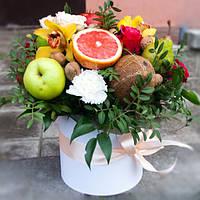 Букет фруктовый в шляпной коробке(2)