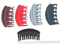Каучуковый краб для волос цветной 7 см 12 шт/уп