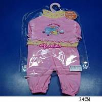 "Одежда для пупса ""Baby Born"" BJ-3 (72шт)на вешалке, в пакете 26*20см"