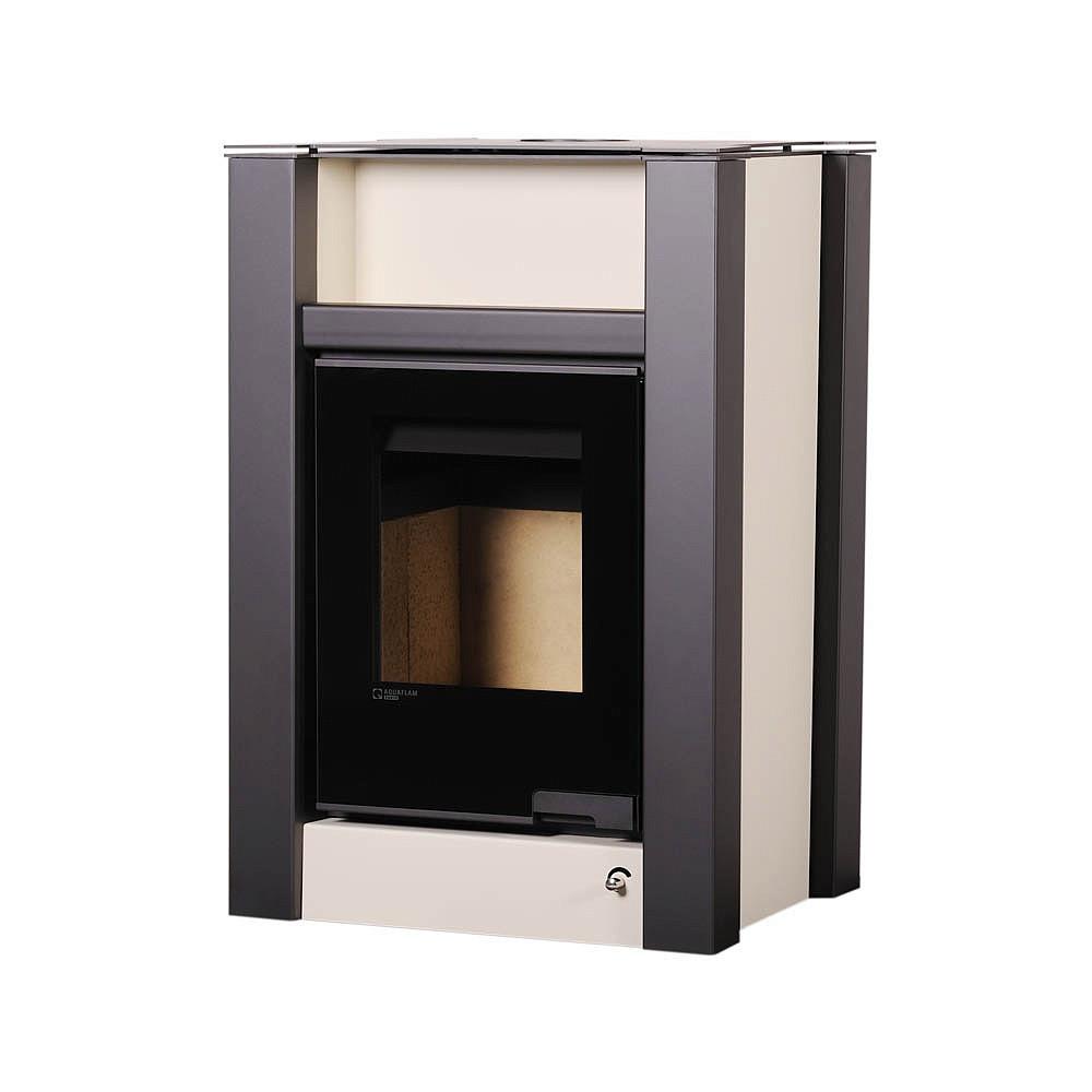 Отопительная печь-камин длительного горения AQUAFLAM VARIO LEND (кремовый)