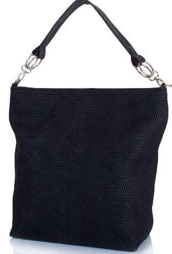 Элегантная женская сумка из качественного кожзаменителя ETERNO ETZG13-16-2, цвет черный.