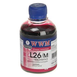 Чернила WWM для Lexmark №26, №27 (10N0026/0227) Magenta (200 грамм)