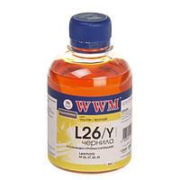 Чернила WWM для Lexmark №26, №27 (10N0026/0227) Yellow (200 грамм)