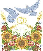 СВР-9. Схема для вишивки бісером Весільний рушник