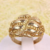 002-2748 - Позолоченный перстень с лазерной гравировкой, 16 р
