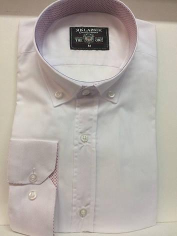 Класссическая белая рубашка Klassik, фото 2