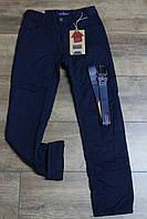 Утепленные катоновые брюки на флисе. 134- 158 рост.