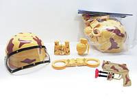Набор военного (каска, пистолет, наручники, бинокль, граната) в п/э /60/