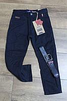 Утепленные катоновые брюки на флисе. 110- 116 рост.