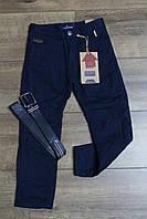 Утепленные катоновые брюки на флисе. 110- 140 рост.