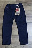 Утепленные катоновые брюки на флисе. 110- 116 лет.