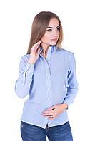 Женская  блуза  делового стиля в голубом цвете