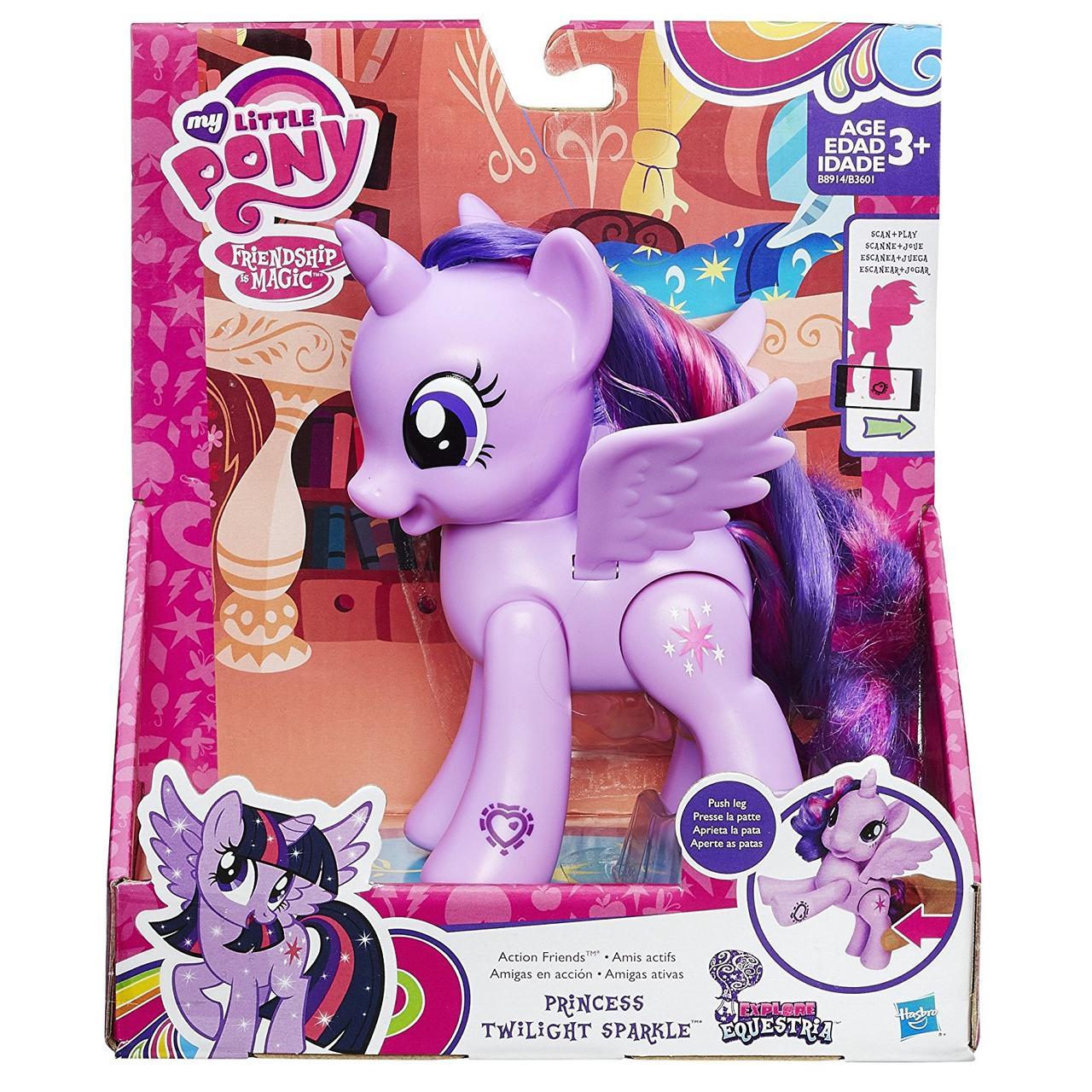 Сумеречная Искорка с подвижными крыльями 15СМ -Action Friend, My Little Pony, Hasbro