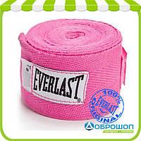 Бинт боксерский Everlast Hand Wraps 2.75 м. розовый, арт.4455PNK