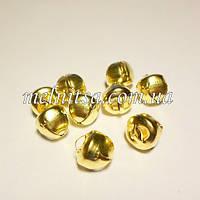Бубенцы, цвет золото, 10 мм, 5 шт.