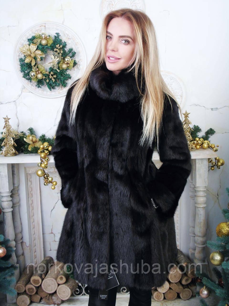 Норковая шуба размер S XS XXS черная норка - Интернет-магазин FUR STAR в  Харькове e027cfe74f1c6