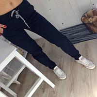 Женские спортивные штаны на флисе, теплые, фото 1