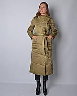 Женское демисезонное пальто из атласа