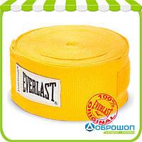Бинт боксерский Everlast 4,55 м желтый
