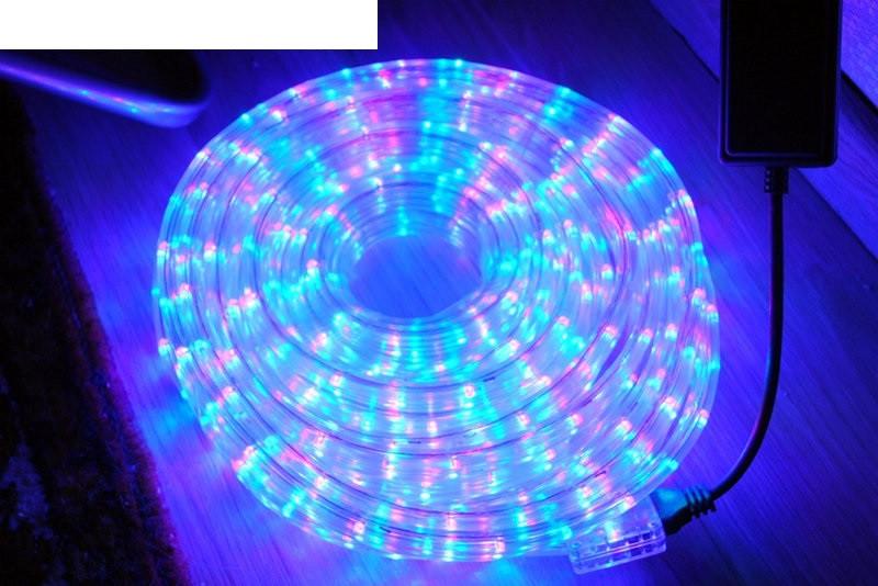 Новогодняя гирлянда Дюралайт Multi 10 метров 4-х жильная - светодиодная подсветка