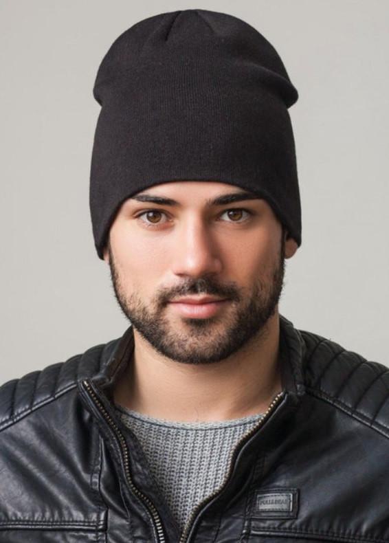 Удлиненная шапка Shady Uni черный