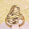 002-2754 - Ажурный перстень позолота, 16 р