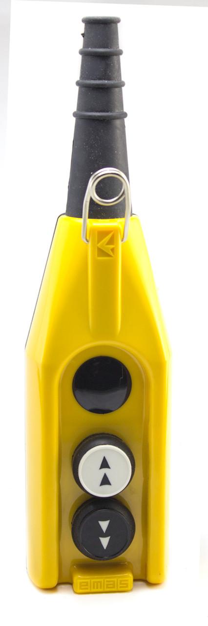 Крановый пульт управления 2-кнопочный, 1 скорость (жёлто-чёрный) PV3T1Х2 ЭМАС - Инвест-Электро в Житомире