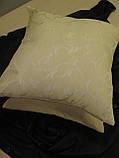 Комплект подушек 2шт светло песочные с вензелем, 40х40, фото 3