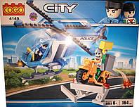 Конструктор COGO City 4149 Полицейский вертолет, 164 дет