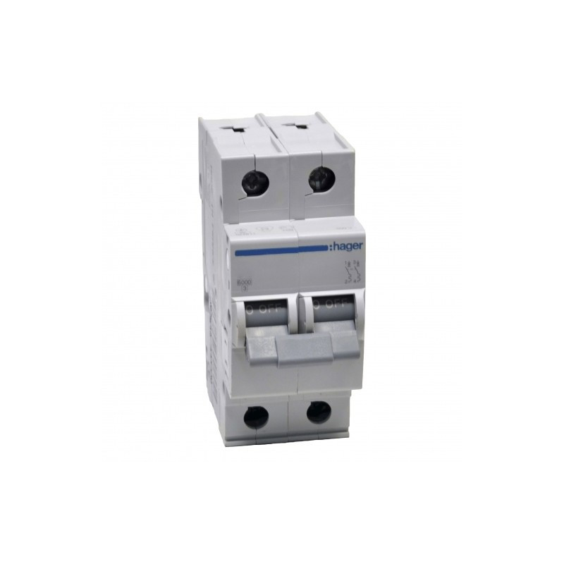 Автоматический выключатель MB263A ln=63А, 2р, B, Hager