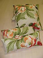 Комплект подушек молочные  с цветами 4шт, фото 1