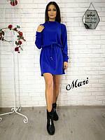 Женское модное платье свободного кроя на талии регулируется(4 цвета)