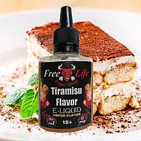 Жидкость для электронных сигарет Free Life 30ml (Tiramisu) 0 mg никотина