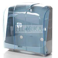 Диспенсер для листовых бумажных полотенец универсальный C V и Z укладка прозрачный (K.4-T)