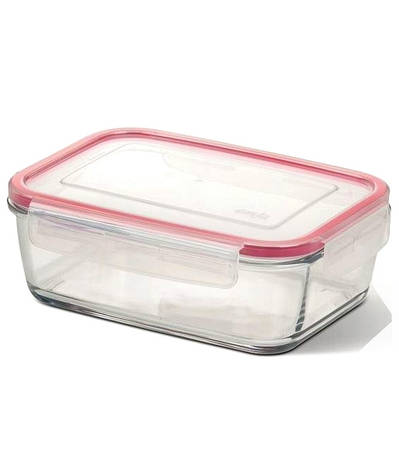 Контейнер стеклянный Emsa Clip&Close Glas 1.3 л для приготовления и хранения Прямоугольный Розовый (EM508105), фото 2