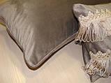 Комплект подушок сірі 3шт оксамит, фото 2